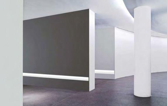 Asümeetriline valgusti VALS sobib paigaldamiseks nii lakke kui ka seina.