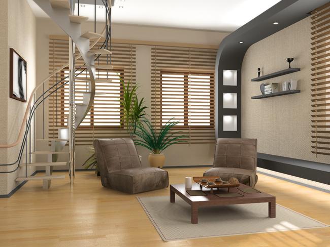 Студия с двумя окнами дизайн
