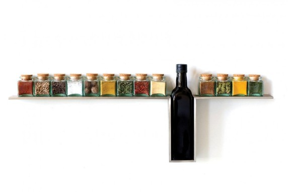 19 | Wall-mounted Line Spice Rack Source: www.architecturendesign.net
