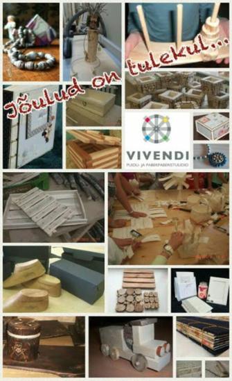 b1c644344e1 Meisterda ise jõulukink Vivendi puidu- ja paberistuudios