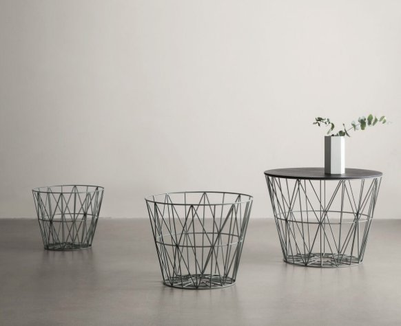Wire Basket säilituskorvid/abilauad – tootja: ferm LIVING Source: elkemoobel.ee