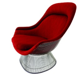 Platner Easy Chair and Ottoman.