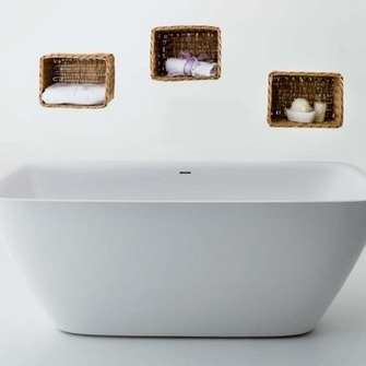 DUNE- Elegantly completed form of a bath derived from flowing minimalist design while offering maximum bathing comfort.   Source:  www.balteco.ee
