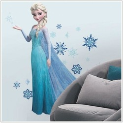 FROZEN ELSA GIANT with glitter Wall Decals